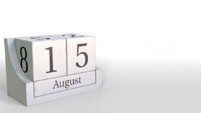 15 agosto nel calendario
