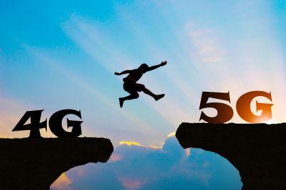uomo salta da 4g a 5g