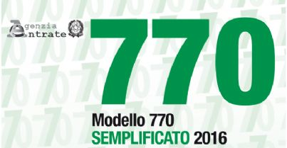 Foto del modello 770 semplificato