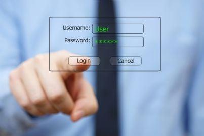 password di accesso a conto corrente