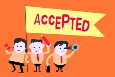 uomini con parole accettare concetto di permesso autorizzazione