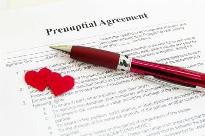 contratto di accordi prematrimoniali