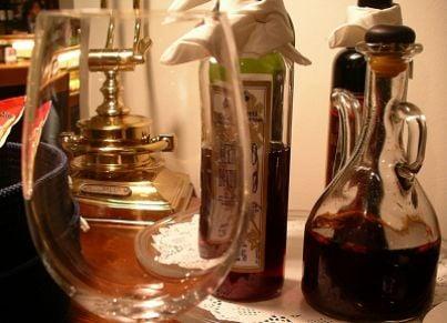 aceto ristorante bicchiere