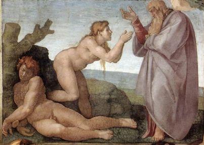 La creazione di Eva (Michelangelo, Cappella Sistina). Immagine di pubblico dominio