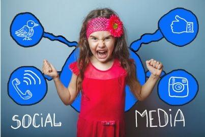 bambina arrabbiata su facebook