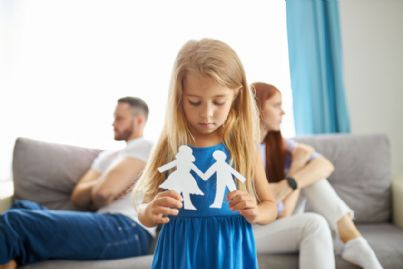 bambina con genitori separati