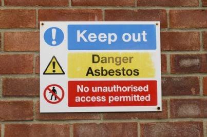 cartello di pericolo amianto