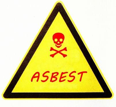 segnale di pericolo di amianto