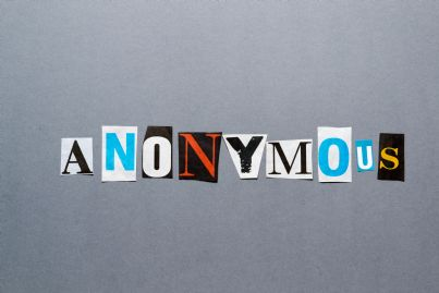 lettera di minaccia con scritta anonimo