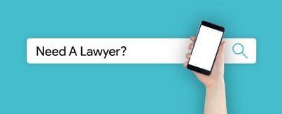 cellulare con a fianco scritta cerchi avvocato