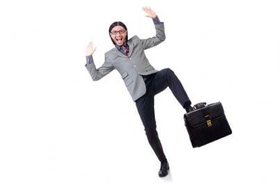 avvocato con borsa di lavoro