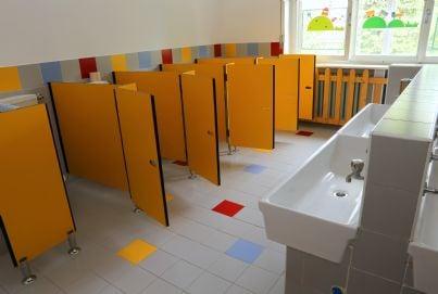 una toilette in una scuola