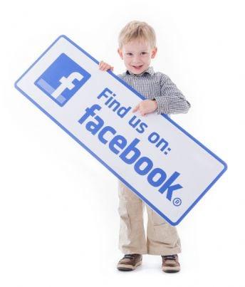 bambino su facebook