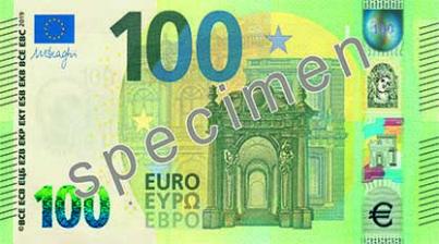 banconota da 100 euro serie Europa