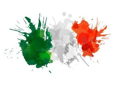 dipinto con bandiera italiana