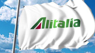 bandiera con logo Alitalia