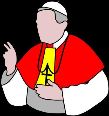prete nell'atto di benedire