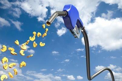 pompa di benzina eroga euro