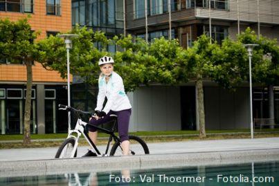 bici ciclista traffico città