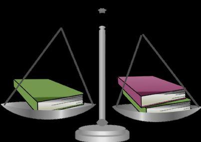 bilancia che pende da un lato simbolo di ingiustizia