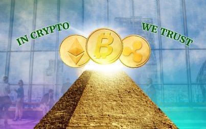 una serie di bitcoin