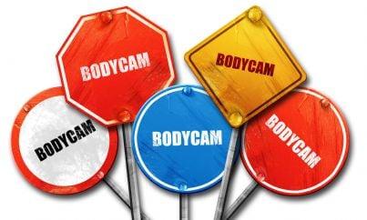 cartelli con su scritto bodycam
