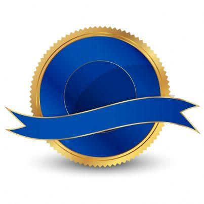 un sigillo blu