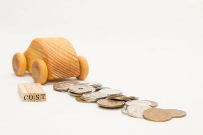 auto con soldi e simbolo costi