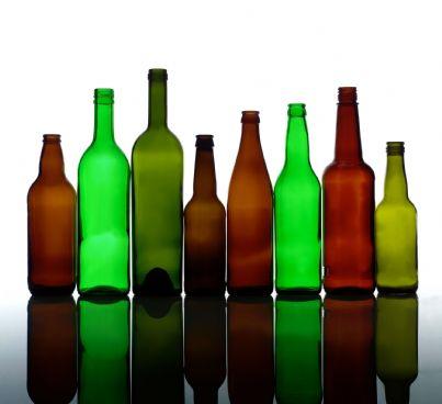 bottiglie di vetro vuote