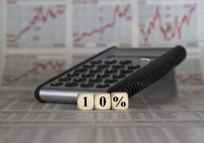 calcolatrice che mostra percentuale 10 per cento