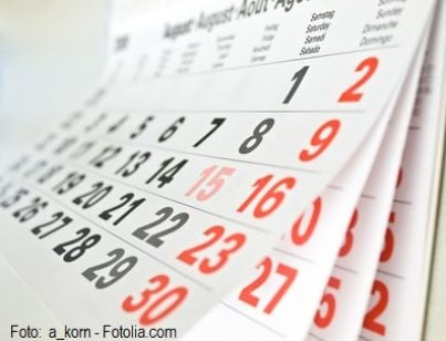 calendario termini scadenze data