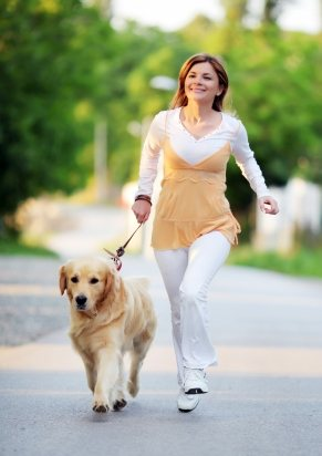cane con padrona