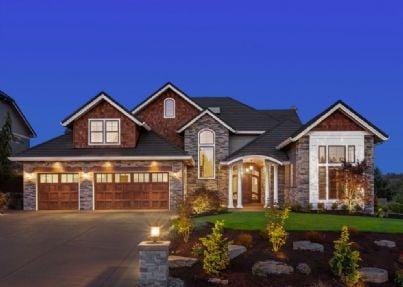 Una casa di grandi dimensioni