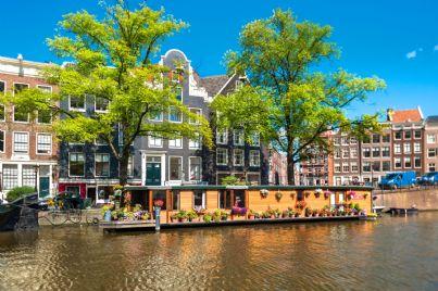 le case galleggianti di Amsterdam