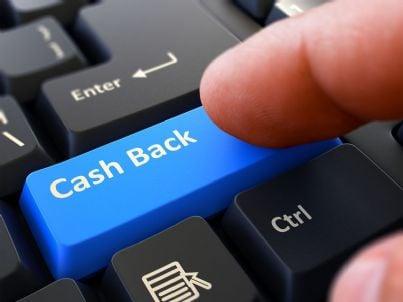 tasto cashback su computer