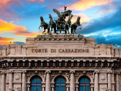 particolare palazzo della Cassazione a Roma