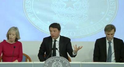 Immagine di una conferenza stampa del governo