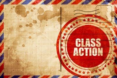parole class action su una busta