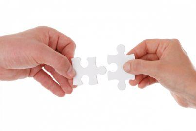 Unione pezzi di puzzle