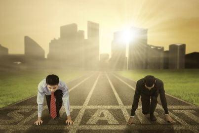 due concorrenti sulla linea di partenza