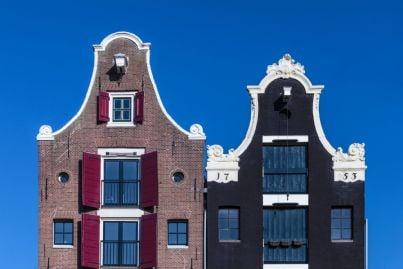 decorazioni sulle facciate di palazzi olandesi