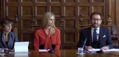 Bonafede Bongiorno e Hunziker alla conferenza stampa del ddl Codice Rosso