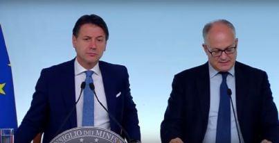 conferenza stampa Conte e Gualtieri Nadef