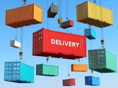 consegna di vari container