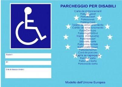 contrassegno invalidi europeo
