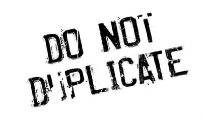 messaggio con invito a non copiare