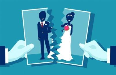 foto marito e moglie tagliata in due a causa di divorzio