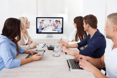 corso di formazione online di un gruppo di affari