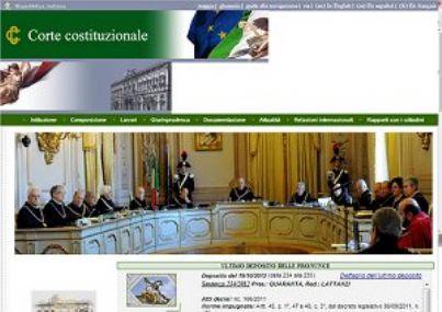 consulta costituzionale