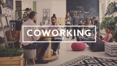 ambiente di lavoro in coworking